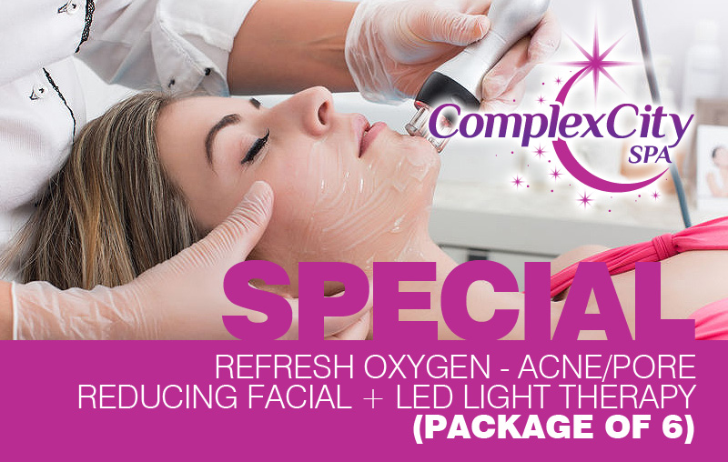 Refresh Oxygen – Acne/Pore Reducing Facial + LED Light Therapy (Package of 6)
